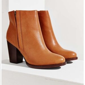 Vegan Leather Half-Stacked Boot